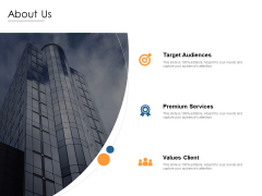 About Us Target Audiences Ppt PowerPoint Presentation Styles Design Templates
