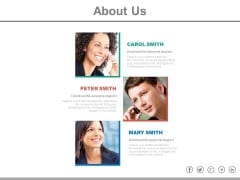 About Us Team Profile Powerpoint Slides