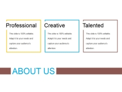 About Us Template 1 Ppt PowerPoint Presentation Slides Graphics