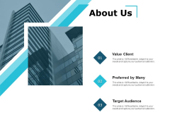 About Us Value Client Ppt PowerPoint Presentation Show Display