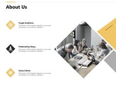 About Us Value Clients Ppt PowerPoint Presentation Portfolio Clipart Images