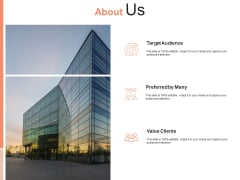 About Us Value Clients Ppt PowerPoint Presentation Portfolio Inspiration
