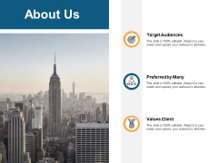 About Us Values Client Ppt PowerPoint Presentation Gallery Icons