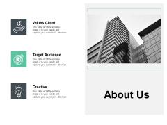 About Us Values Client Ppt PowerPoint Presentation Ideas Slide Portrait