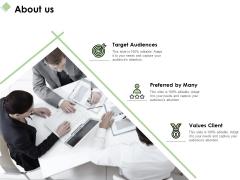 About Us Values Client Ppt PowerPoint Presentation Ideas Visual Aids