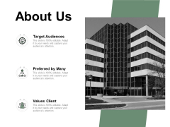 About Us Values Client Ppt PowerPoint Presentation Infographics Graphics Template