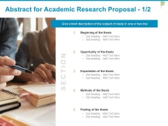 Abstract For Academic Research Proposal Opportunity Ppt PowerPoint Presentation Infographic Template Maker