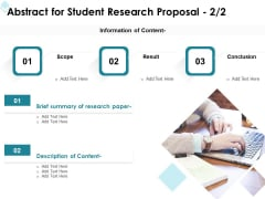 Academic Investigation Abstract For Student Research Proposal Ppt Inspiration Gridlines PDF