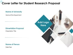 Academic Investigation Cover Letter For Student Research Proposal Department Ppt Professional Design Inspiration PDF