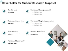 Academic Investigation Cover Letter For Student Research Proposal Ppt Styles Outline PDF