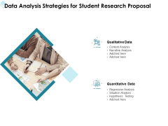 Academic Investigation Data Analysis Strategies For Student Research Proposal Ppt Inspiration Files PDF