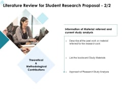 Academic Investigation Literature Review For Student Research Proposal Analysis Ppt Pictures Design Templates PDF