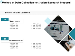 Academic Investigation Method Of Data Collection For Student Research Proposal Ppt Infographics Graphic Tips PDF