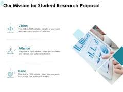 Academic Investigation Our Mission For Student Research Proposal Ppt Ideas File Formats PDF