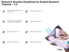 Academic Investigation Research Question Hypothesis For Student Research Proposal Ppt Portfolio Brochure PDF