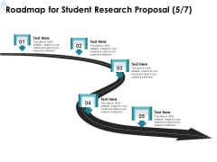 Academic Investigation Roadmap For Student Research Proposal Five Stage Process Ppt Inspiration Example PDF