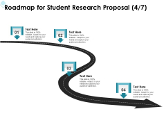 Academic Investigation Roadmap For Student Research Proposal Four Stage Process Ppt Pictures Design Inspiration PDF