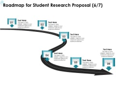 Academic Investigation Roadmap For Student Research Proposal Six Stage Process Ppt Portfolio Ideas PDF