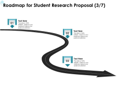 Academic Investigation Roadmap For Student Research Proposal Three Stage Process Ppt Styles Information PDF