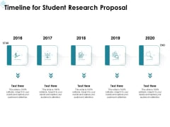 Academic Investigation Timeline For Student Research Proposal Ppt Pictures Slideshow PDF