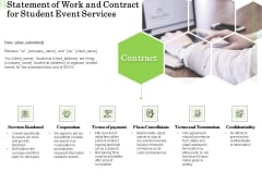 Academic Study Proposal Statement Of Work And Contract For Student Event Services Ppt Summary Maker PDF