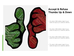 Accept And Refuse Thumbs Up And Down Ppt PowerPoint Presentation Professional Layout
