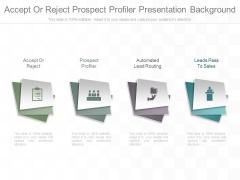 Accept Or Reject Prospect Profiler Presentation Background