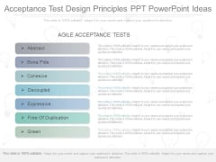 Acceptance Test Design Principles Ppt Powerpoint Ideas