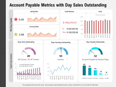 Account Payable Metrics With Day Sales Outstanding Ppt PowerPoint Presentation Ideas Topics PDF
