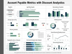 Account Payable Metrics With Discount Analystics Ppt PowerPoint Presentation Styles Elements PDF
