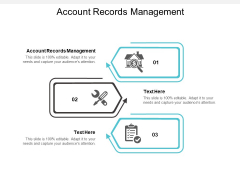 Account Records Management Ppt PowerPoint Presentation Show Good Cpb