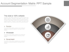 Account Segmentation Matrix Ppt Sample
