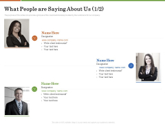 Accounting Advisory Services For Organization What People Are Saying About Us Client Summary PDF