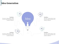 Accounting And Bookkeeping Services Idea Generation Ppt Infographics Professional PDF