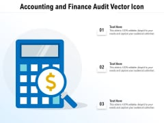 Accounting And Finance Audit Vector Icon Ppt PowerPoint Presentation Styles Objects PDF