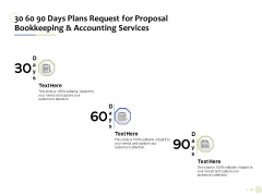 Accounting And Tax Services 30 60 90 Days Plans Request For Bookkeeping And Accounting Services Guidelines
