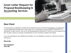 Accounting And Tax Services Cover Letter Request For Bookkeeping And Accounting Services Formats PDF