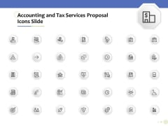 Accounting And Tax Services Icons Slide Rules PDF