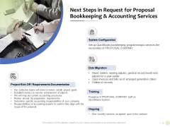 Accounting And Tax Services Next Steps Request For Bookkeeping And Accounting Services Designs PDF