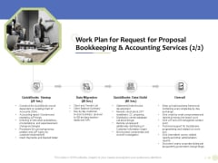 Accounting And Tax Services Work Plan For Request For Bookkeeping And Accounting Services Data Migration Background PDF
