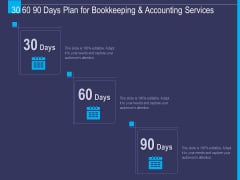 Accounting Bookkeeping Service 30 60 90 Days Plan For Bookkeeping And Accounting Services Demonstration PDF