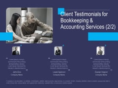 Accounting Bookkeeping Service Client Testimonials For Bookkeeping And Accounting Elements PDF