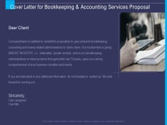 Accounting Bookkeeping Service Cover Letter For Bookkeeping And Accounting Services Proposal Sample PDF
