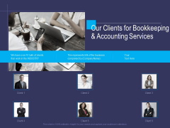 Accounting Bookkeeping Service Our Clients For Bookkeeping And Accounting Services Brochure PDF