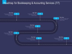 Accounting Bookkeeping Service Roadmap For Bookkeeping And Accounting Ppt Model Example PDF