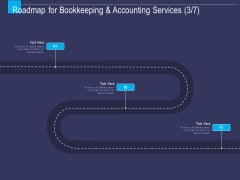 Accounting Bookkeeping Service Roadmap For Bookkeeping And Accounting Services Ppt Professional Objects PDF