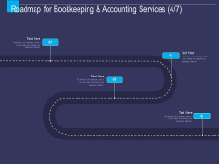 Accounting Bookkeeping Service Roadmap For Bookkeeping And Four Stage Process Ppt Pictures Portrait PDF