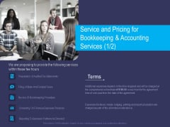 Accounting Bookkeeping Service Service And Pricing For Bookkeeping And Accounting Ppt Outline Layouts PDF