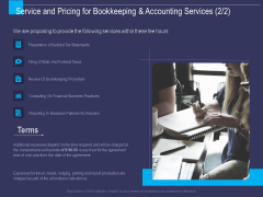 Accounting Bookkeeping Service Service And Pricing For Bookkeeping And Accounting Services Sample PDF