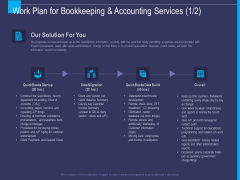 Accounting Bookkeeping Service Work Plan For Bookkeeping And Accounting Services Ppt Summary Layout PDF